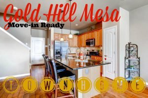 Gold Hill Mesa Move-in ready town home banner with modern kitchen photo