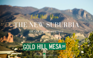 gold hill mesa street sign the new suburbia of colorado springs banner