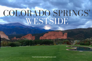 colorado springs westside banner with green park, garden of the gods and pikes creek all in one photo