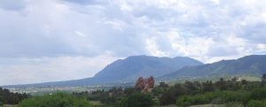 Photo of Cheyenne Mountain view from Gold Hill Mesa