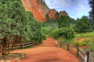 Garden of the Gods Trail by the Rocks Photo