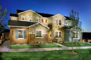 Example of a JM Weston Town Home / Duplex in the Colorado Farmhouse Style combined with Craftsman