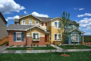 Photo of a Gold Hill Mesa Town Home, A.K.A. Duplex in the Colorado Farm House and Craftsman styles, combined.