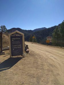 Gold Camp Park Road and Sign Photo