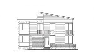 Line Art of a Contemporary Style House
