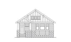 Line Art of a Craftsman Style Home
