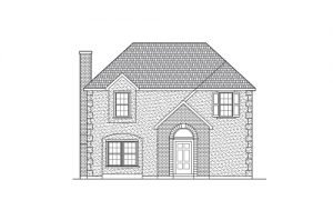 Line Art of the Eclectic European Style Home