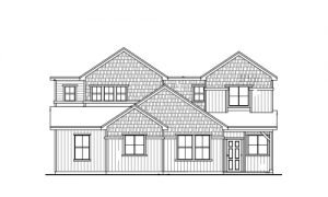 Townhome Duplex Line Art in the Craftsman and Colorado Farm House Style